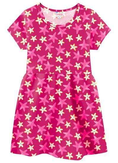Vestido-Infantil-Menina-De-Malha-Com-Estampa-De-Estrelas-Do-Mar-Brandili