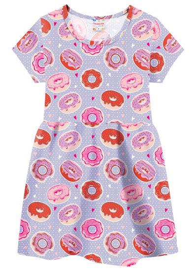 Vestido-Infantil-Menina-De-Malha-Com-Estampa-De-Donuts-Brandili