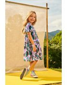 Vestido-Infantil-Menina-De-Voher-Com-Estampa-Tropical-Brandili