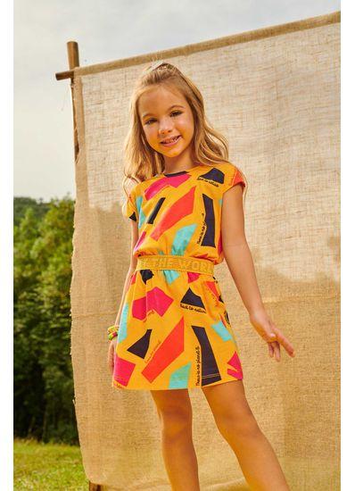 Vestido-Infantil-Menina-De-Malha-Com-Estampa-Geometrica-Brandili