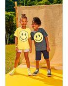 Camiseta-Infantil-Para-Meninos-E-Meninas-De-Malha-Com-Estampa-De-Smile-Motivacional-Brandili