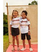 Camiseta-Infantil-Para-Meninos-E-Meninas-De-Malha-Com-Estampa-Contra-Racismo-Brandili