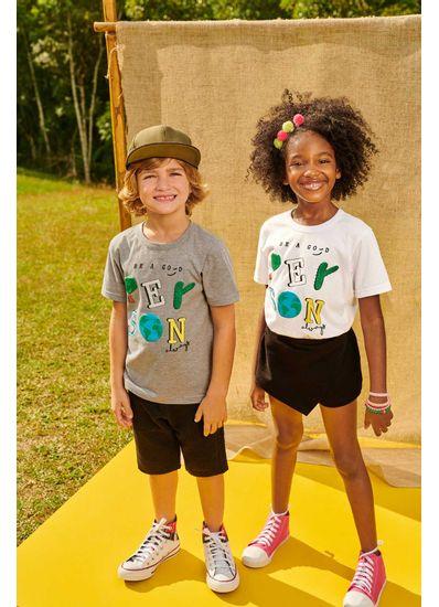 Camiseta-Infantil-Para-Meninos-E-Meninas-De-Malha-Com-Estampa-Sustentavel-Brandili