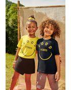 Camiseta-Infantil-Para-Meninos-E-Meninas-De-Malha-Com-Estampa-Good-Vibes-Brandili