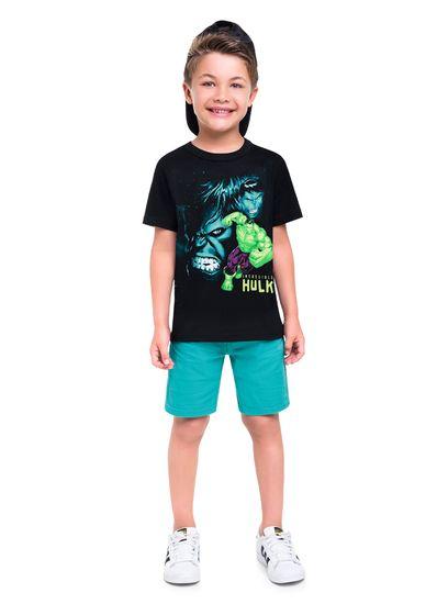 Camiseta-infantil-menino-de-malha-com-estampa-do-Hulk-Vingadores-Brandili