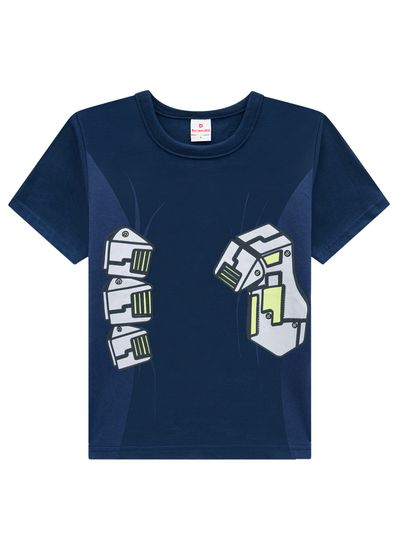 Camiseta-Infantil-Menino-De-Malha-Com-Estampa-Interativa-De-Robo-Brandili