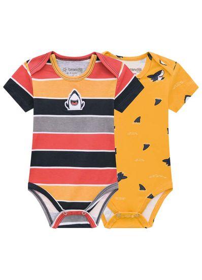 Kit-De-Bodies-Bebe-Menino-De-Cotton-Com-Estampa-De-Tubarao-Brandili-Baby