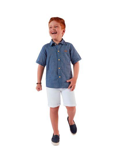 Camisa-Infantil-Menino-De-Tricoline-Com-Cor-Lisa-Mundi