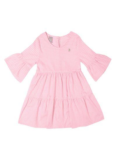 Vestido-Infantil-Menina-De-Tecido-Tricoline-Fio-Tinto-Com-Estampa-Xadrez-Vichy-Mundi