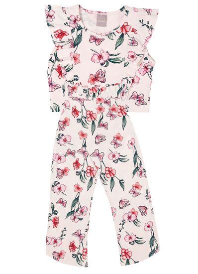 Conjunto-Infantil-Menina-De-Cotton-Com-Estampa-De-Flores-Mundi