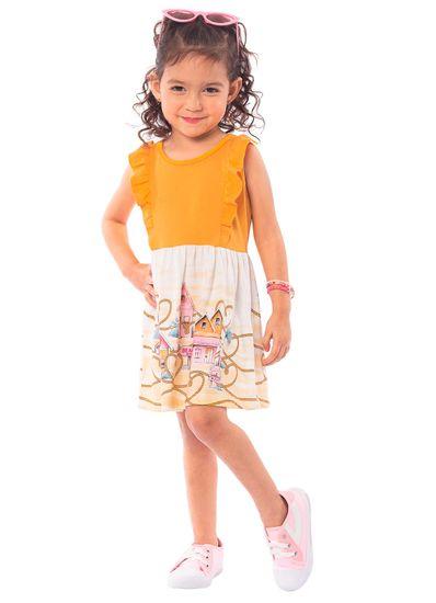 Vestido-Infantil-Menina-Malha-Estampa-De-Praia-Brandili