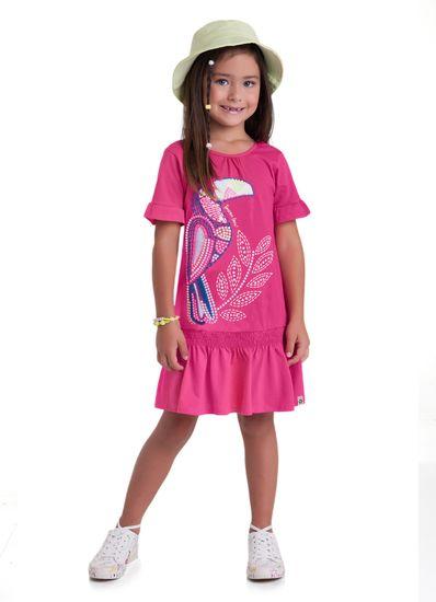 Vestido-Infantil-Menina-Malha-Estampa-De-Tucano-Brandili