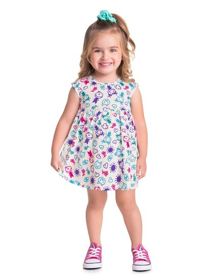 Vestido-Infantil-Menina-Malha-Estampa-Desenhos-Infantis-Brandili