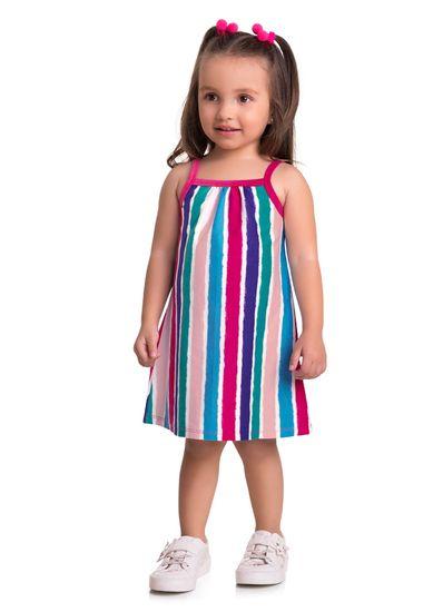 Vestido-Infantil-Menina-Malha-Estampa-Listras-Brandili