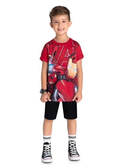 Camiseta-Infantil-Menino-Malha-Estampa-Homem-De-Ferro-Brandili
