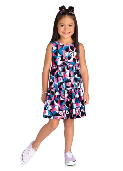 Vestido-Infantil-Menina-Cotton-Estampa-Turma-Da-Monica-Brandili