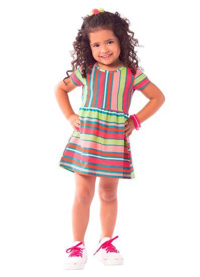 Vestido-Infantil-Menina-Malha-Estampa-De-Listras-Brandili