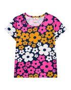 Blusa-Infantil-Menina-Malha-Estampa-De-Flores-Brandili