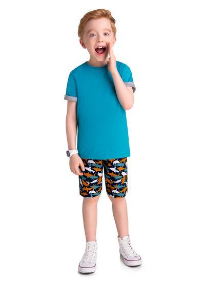 Camiseta-Infantil-Unissex-Malha-Com-Cor-Lisa-Brandili