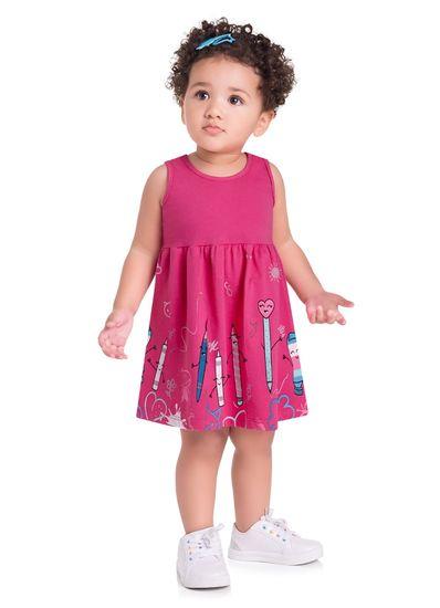 Vestido-Infantil-Menina-Malha-Estampa-De-Pinceis-E-Lapis-Brandili