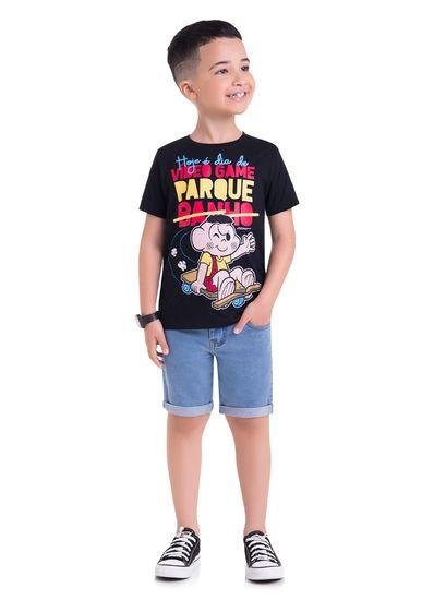Camiseta-Infantil-Unissex-Malha-Estampa-Cascao-Brandili