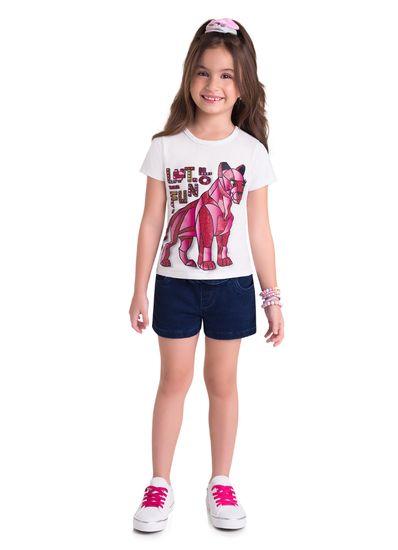Camiseta-Infantil-Menina-Estampa-De-Leoa-Veste-E-Diverte-Brandili