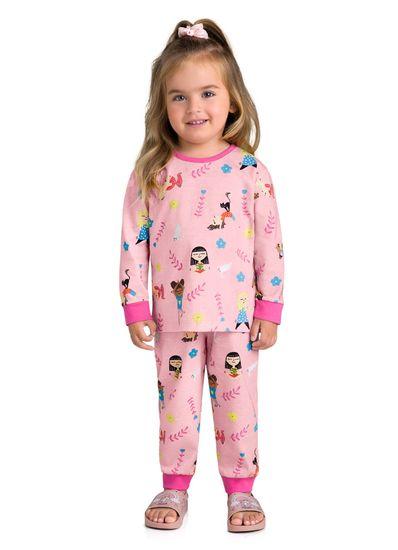 Pijama-Longo-Infantil-Menina-Malha-Estampa-De-Yoga-Brandili