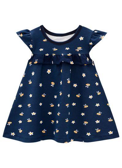 Vestido-Bebe-Menina-Cotton-Estampa-De-Abelhinha-Brandili-Baby