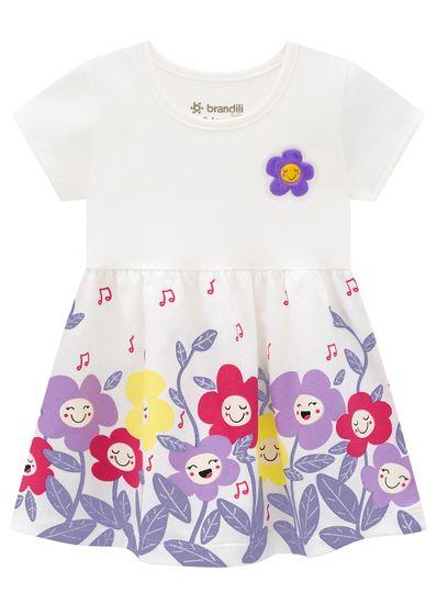Vestido-Bebe-Menina-Malha-Estampa-De-Florzinhas-Brandili-Baby
