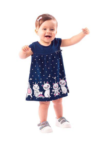 Vestido-Bebe-Menina-Malha-Estampa-De-Gatinho-Brandili-Baby