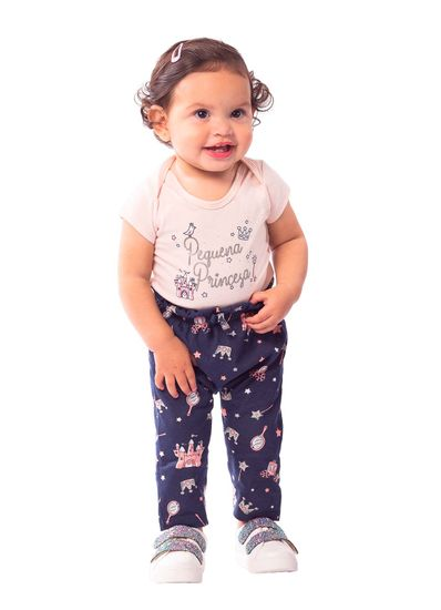 Conjunto-Bebe-Menina-Cotton-Estampa-De-Princesa-Brandili-Baby