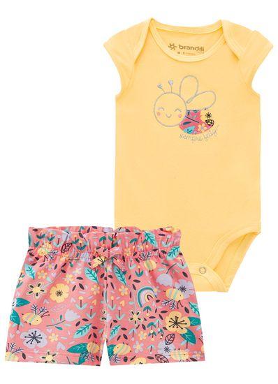 Conjunto-Bebe-Menina-Cotton-Estampa-De-Abelhinha-Brandili-Baby