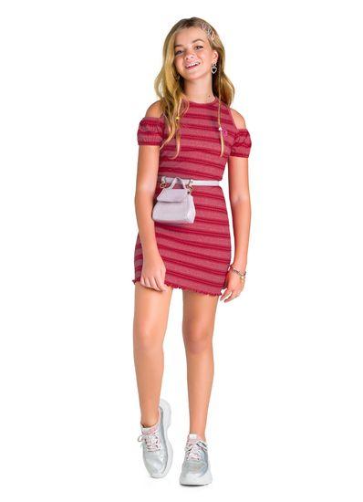 Vestido-Teen-Menina-De-Ribana-Com-Listras-Young-Class
