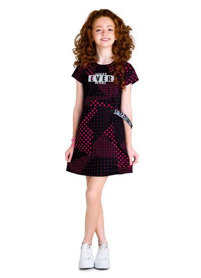 Vestido-Teen-Menina-Malha-Estampa-De-Bolinhas-Young-Class