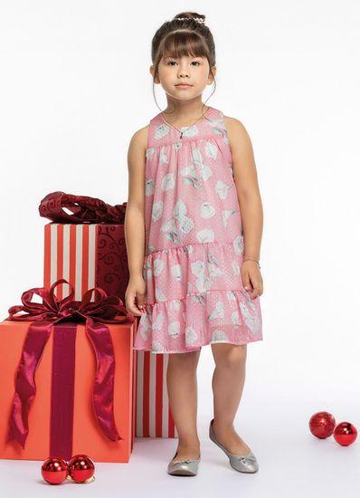 Vestido-Infantil-Menina-De-Chiffon-Estampa-De-Flores-Mundi