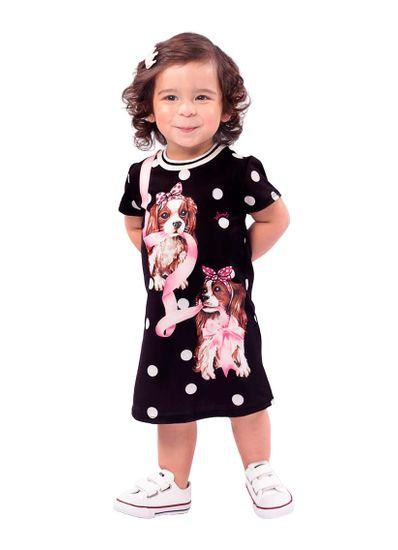 Vestido-Infantil-Menina-Cotton-Estampa-De-Cachorrinhos-Mundi