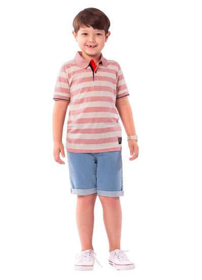 Camisa-Polo-Infantil-Menino-Malha-Estampa-De-Listras-Brandili