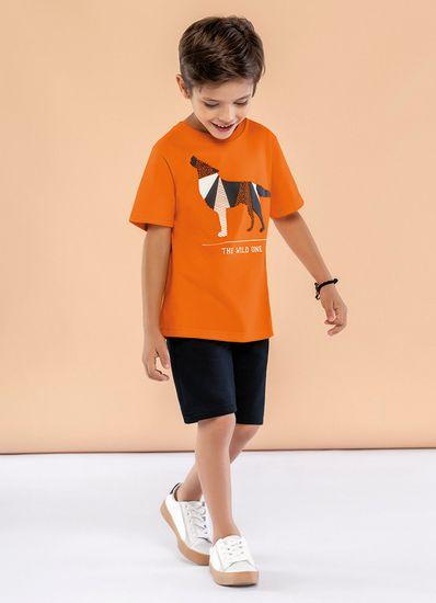 Camiseta-Infantil-Menino-Malha-Estampa-De-Lobo-Mundi