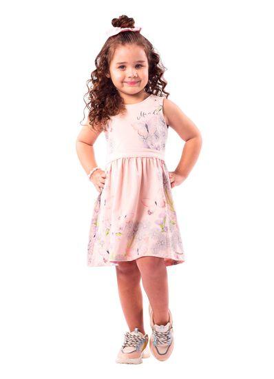 Vestido-Infantil-Menina-Cotton-Estampa-De-Borboletas-Mundi