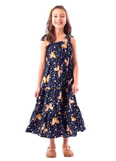 Vestido-Infantil-Menina-Tal-Mae-Tal-Filha-Viscose-Borboletas-Mundi