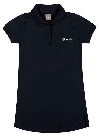 Vestido-Polo-Infantil-Menina-De-Piquet-Confort-Com-Cor-Lisa-Mundi