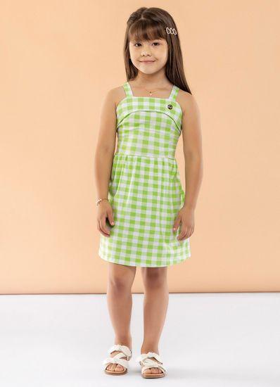 Vestido-Infantil-Menina-Cotton-Estampa-Xadrez-Mundi