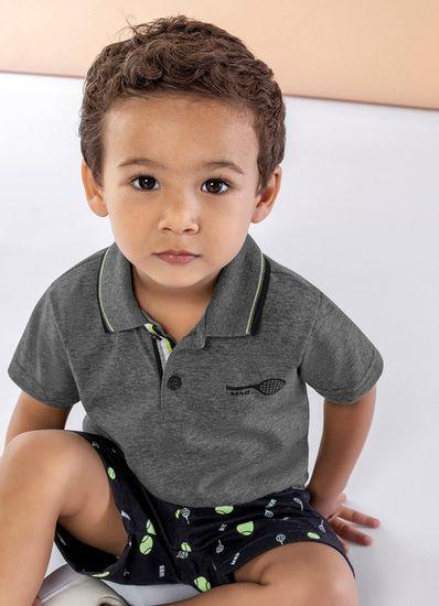 Conjunto-Polo-Infantil-Menino-Malha-Estampa-Bola-De-Tenis-Mundi