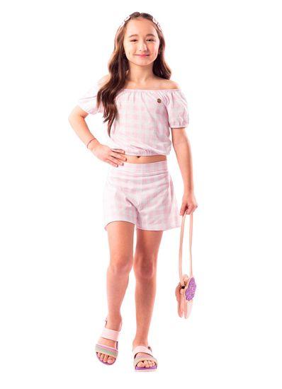 Conjunto-Infantil-Menina-Cotton-Estampa-Xadrez-Mundi