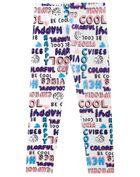 Calca-Legging-Infantil-Menina-Cotton-Estampa-Vibes-Brandili