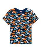 Camiseta-Infantil-Menino-Malha-Estampa-De-Tubarao-Brandili