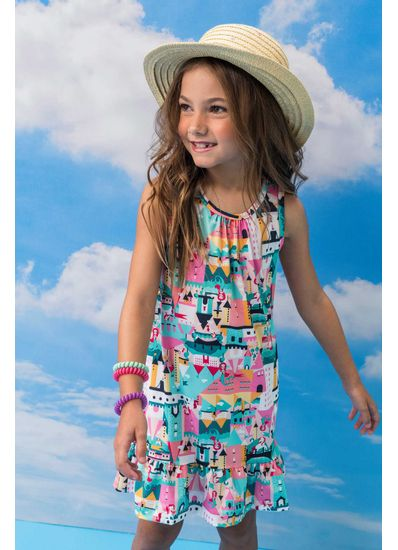 Vestido-Infantil-Menina-De-Malha-Uv-Com-Estampa-De-Castelo-Brandili