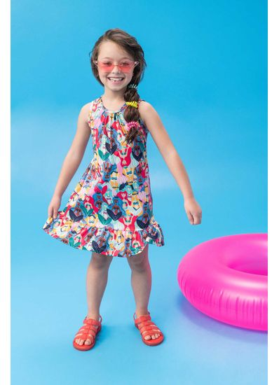 Vestido-Infantil-Menina-De-Malha-Uv-Com-Estampa-De-Sereia-Brandili