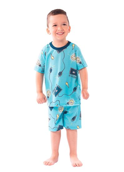 Pijama-infantil-menino-com-estampa-de-lampadas-Brandili